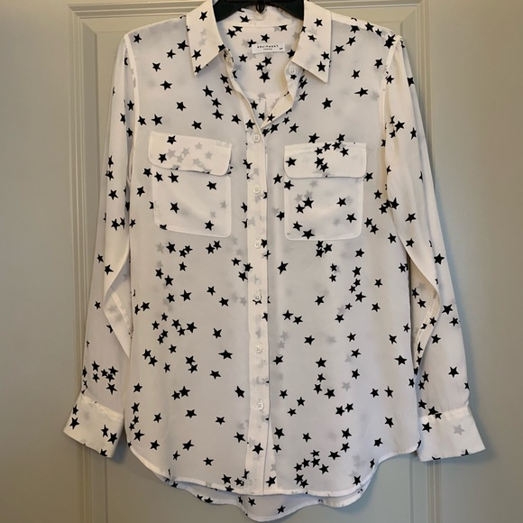 da3895d11a4e3 Equipment Tops - Equipment Star Print Slim Signature Silk Shirt